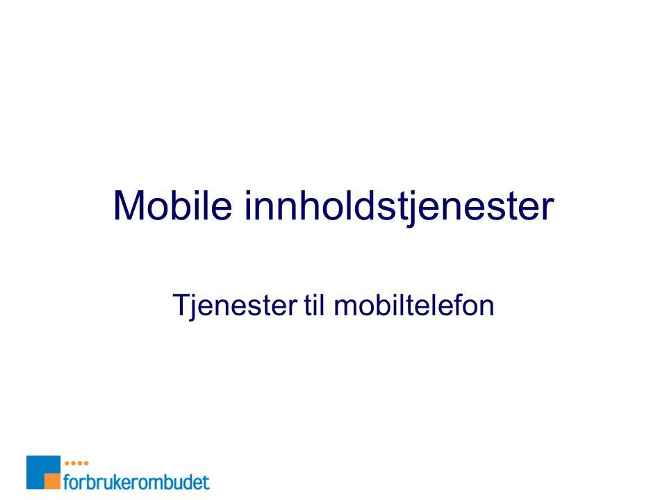 Mobile innholdstjenester