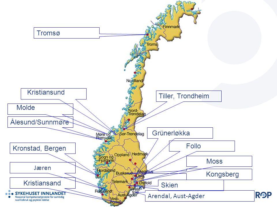 Tromsø Kristiansund Tiller, Trondheim Molde Ålesund/Sunnmøre