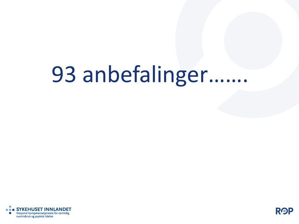 93 anbefalinger…….