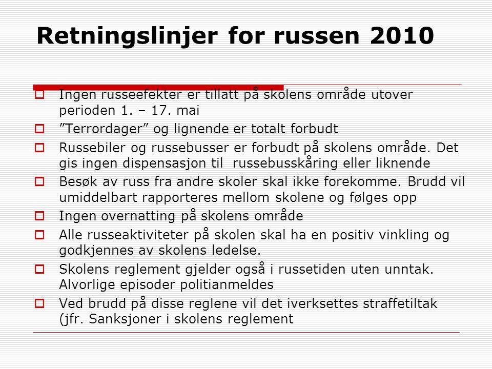 Retningslinjer for russen 2010