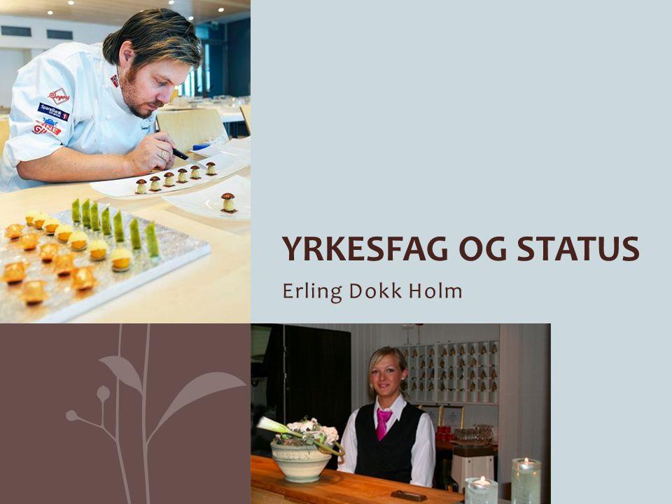 Yrkesfag og status Erling Dokk Holm