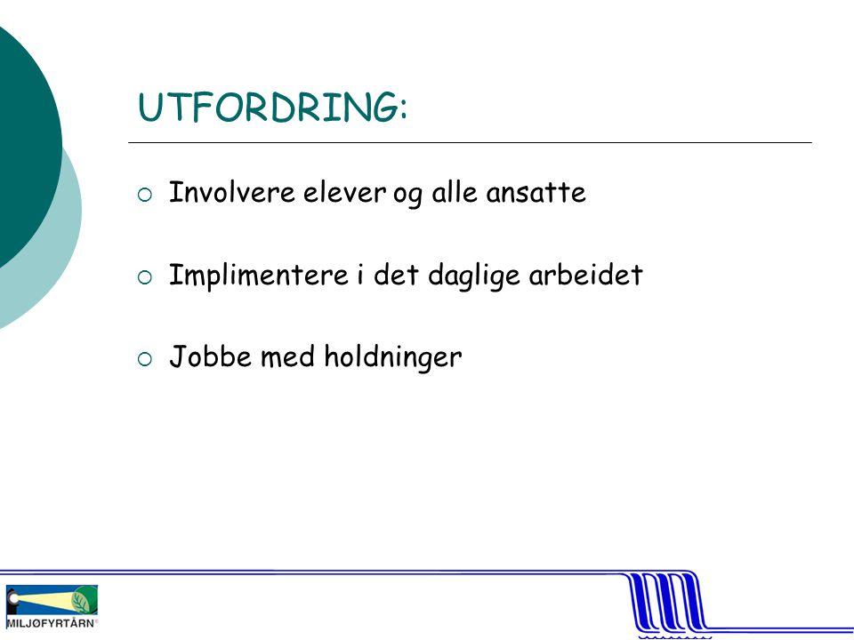 UTFORDRING: Involvere elever og alle ansatte