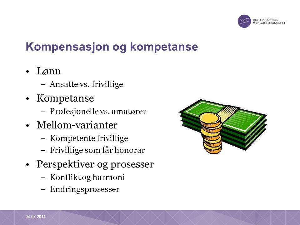 Kompensasjon og kompetanse