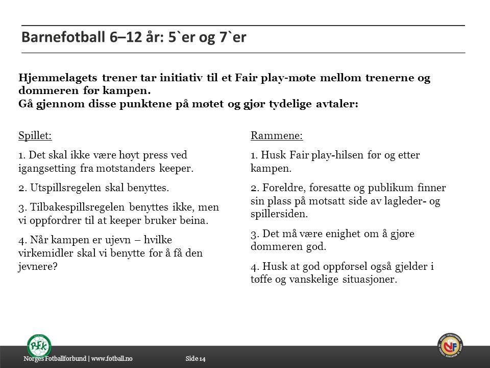Barnefotball 6–12 år: 5`er og 7`er