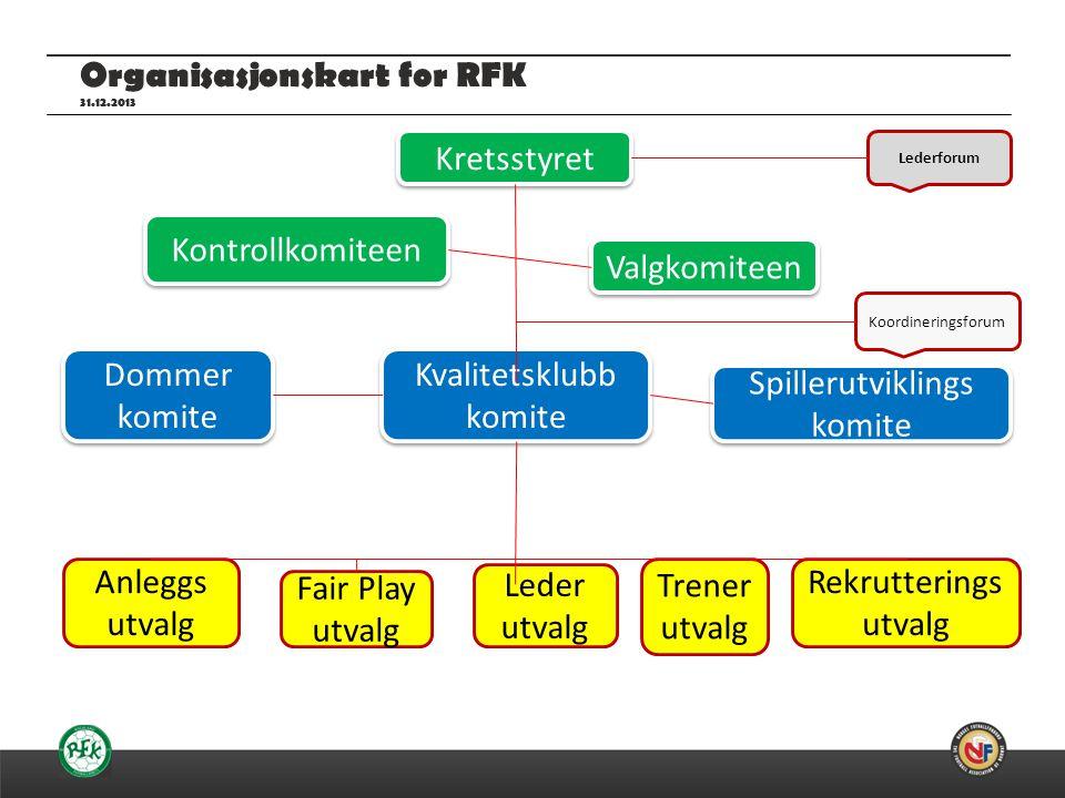 Organisasjonskart for RFK 31.12.2013