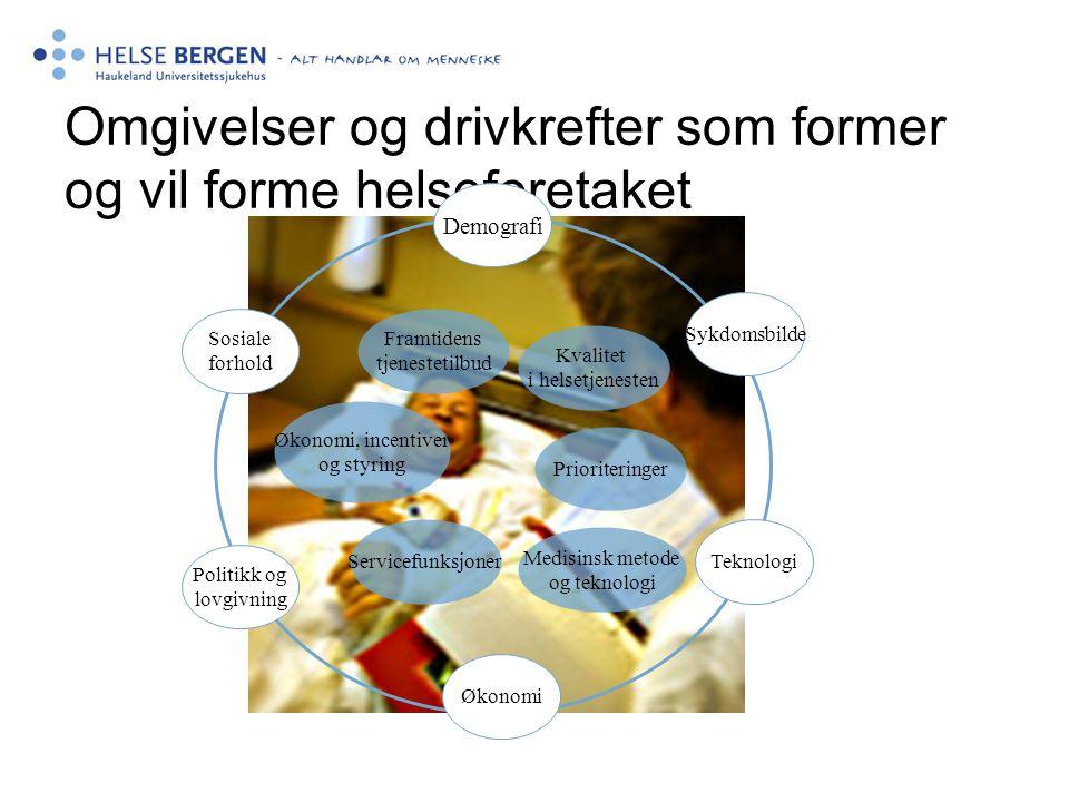 Omgivelser og drivkrefter som former og vil forme helseforetaket