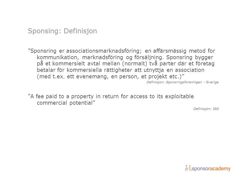 Sponsing: Definisjon