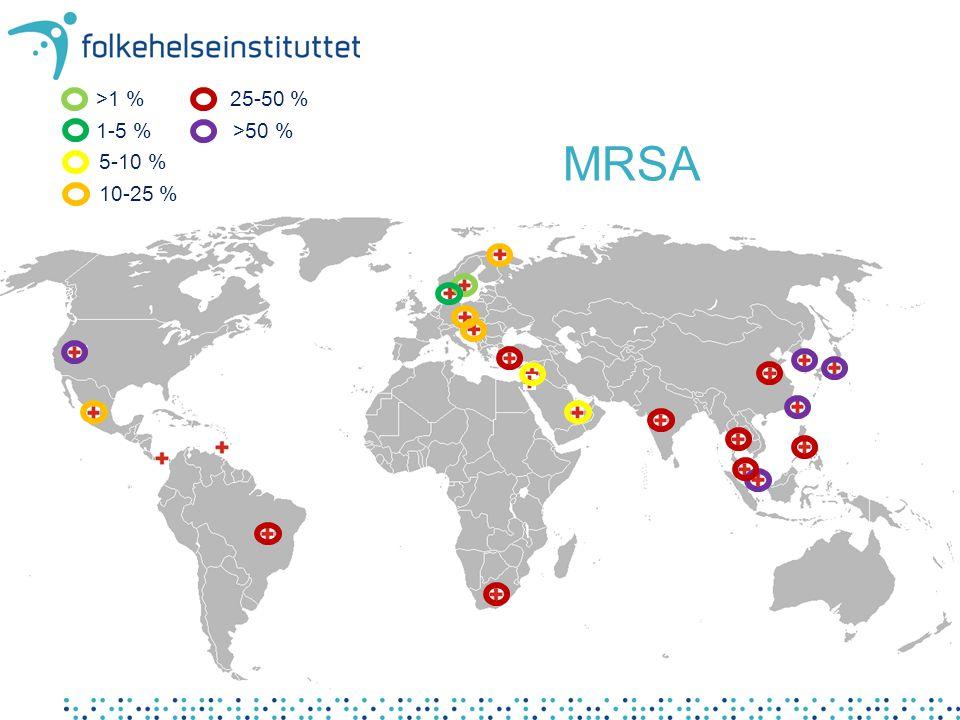 Forekomst av MRSA Verdenskart – hvor kan man få utført tjenestene