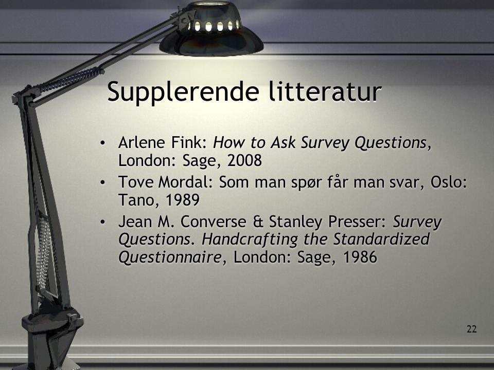 Supplerende litteratur