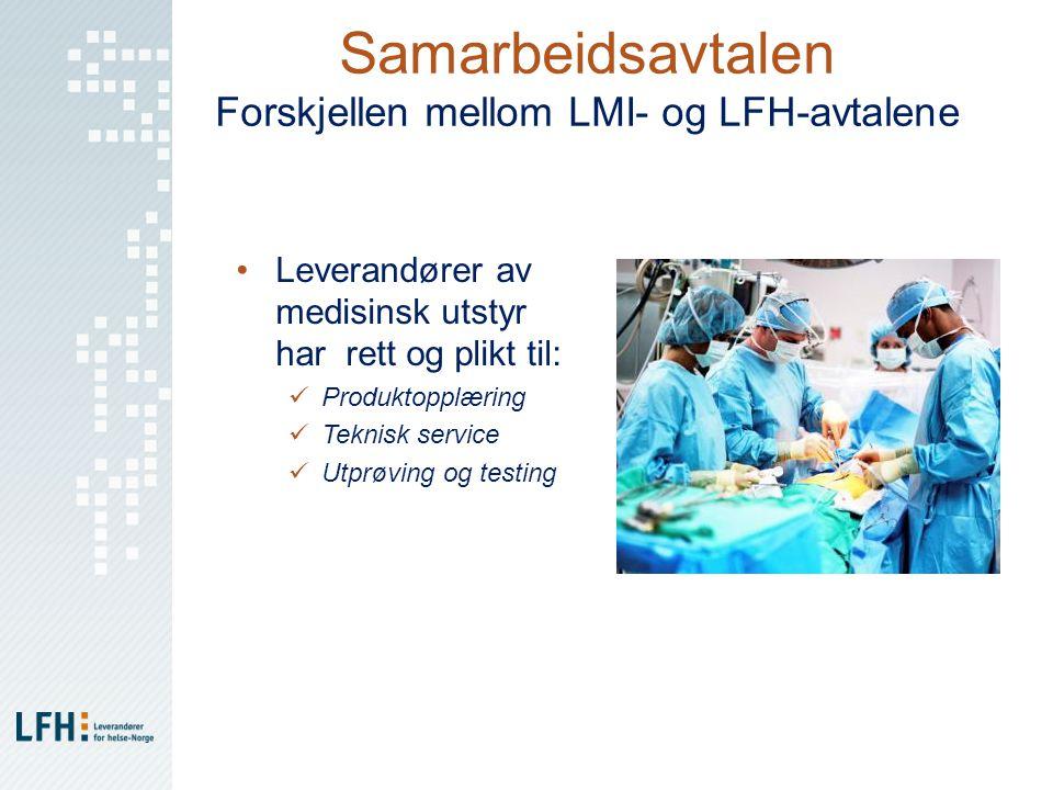 Samarbeidsavtalen Forskjellen mellom LMI- og LFH-avtalene