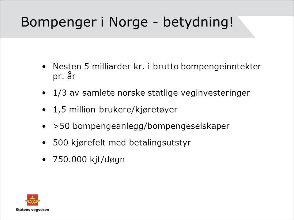 Bompenger i Norge - betydning!