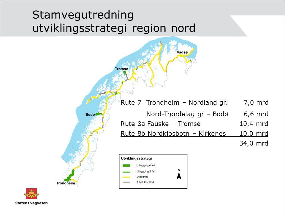 Stamvegutredning utviklingsstrategi region nord
