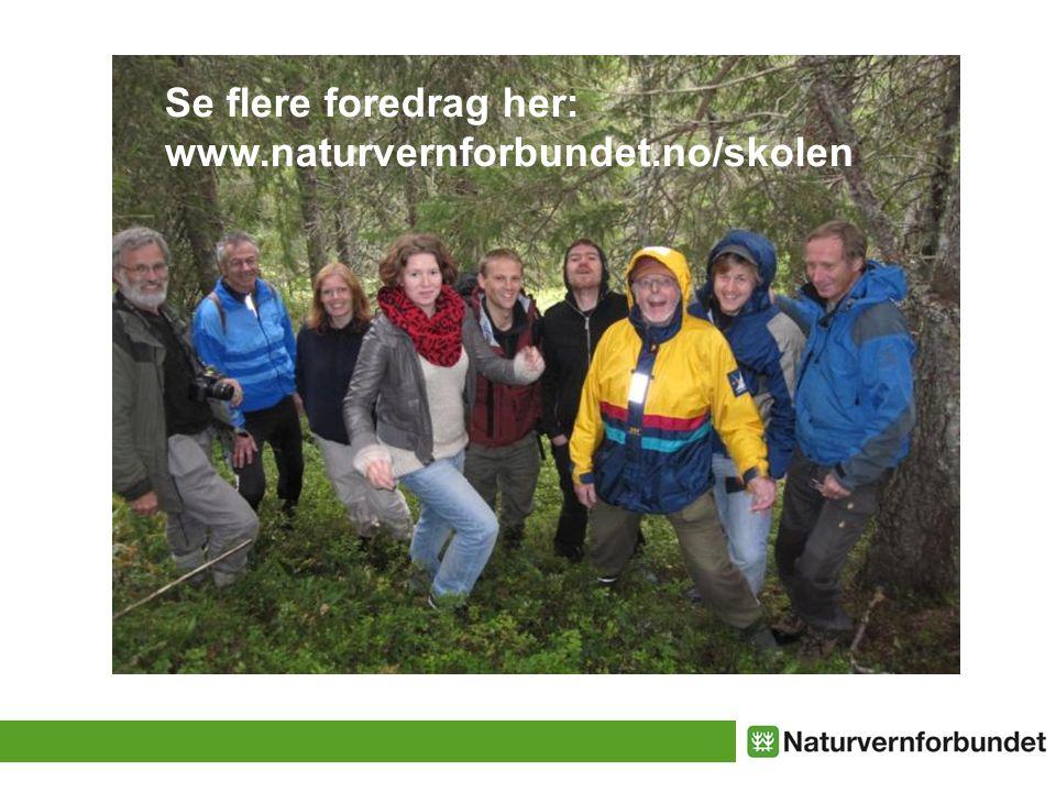 Se flere foredrag her: www.naturvernforbundet.no/skolen