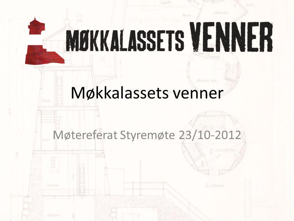Møtereferat Styremøte 23/10-2012