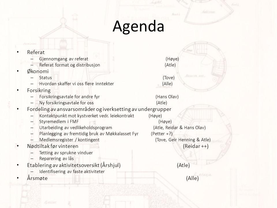 Agenda Referat Økonomi Forsikring