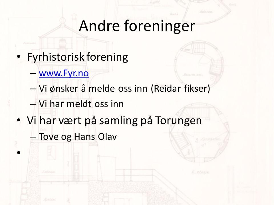Andre foreninger Fyrhistorisk forening