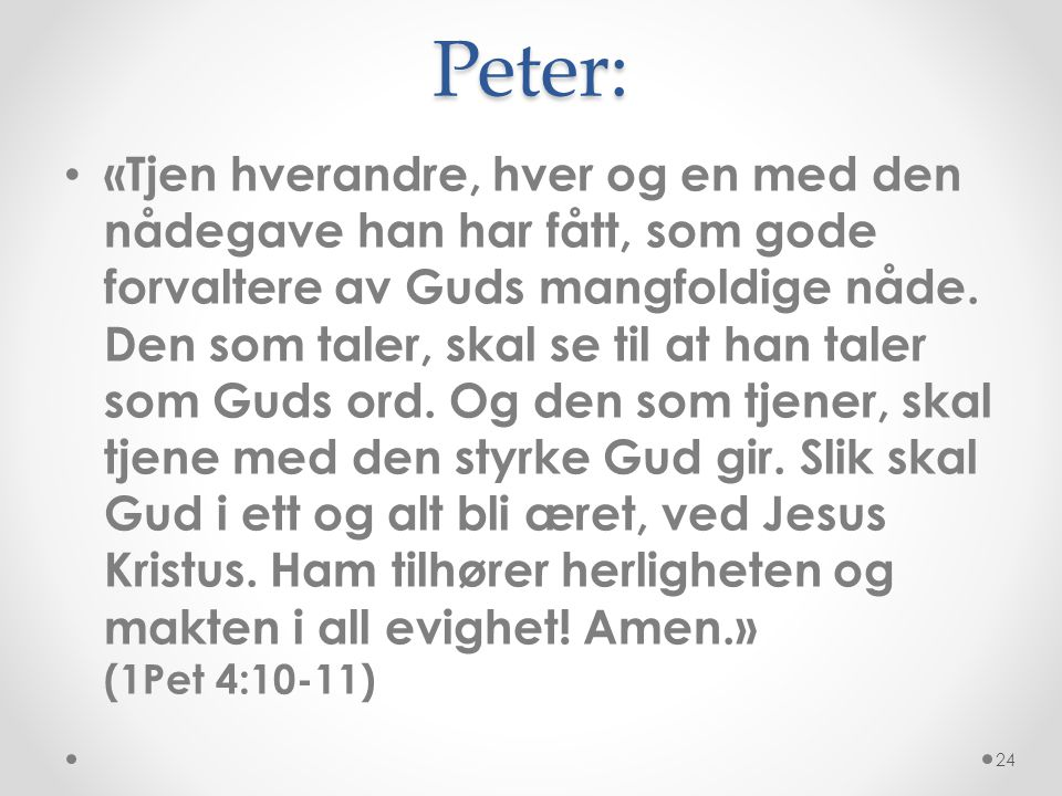 Peter: