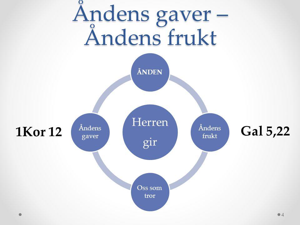 Åndens gaver – Åndens frukt