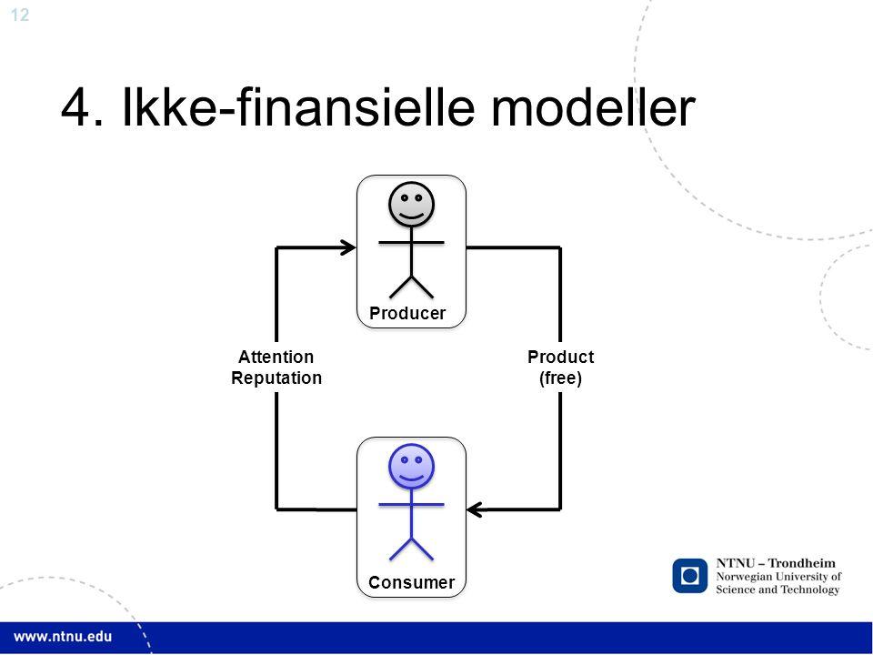 4. Ikke-finansielle modeller