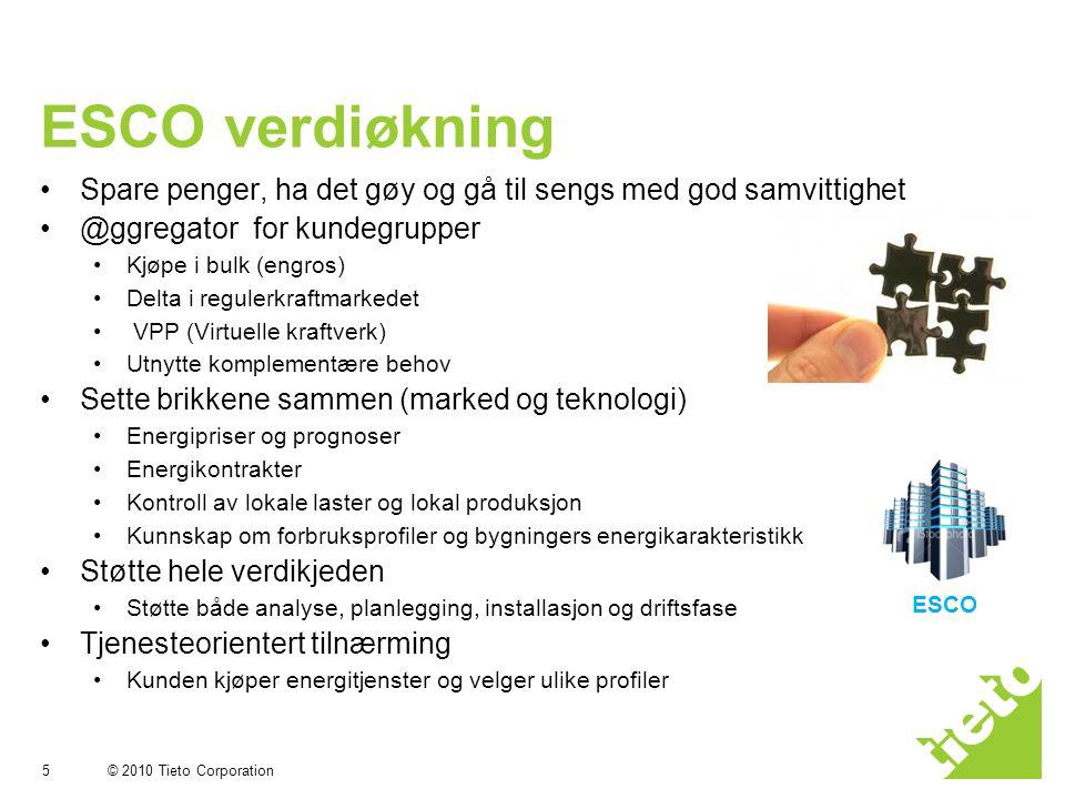 ESCO verdiøkning Spare penger, ha det gøy og gå til sengs med god samvittighet. @ggregator for kundegrupper.