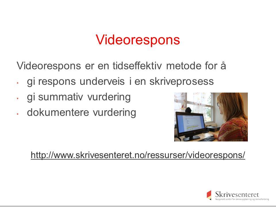 Videorespons Videorespons er en tidseffektiv metode for å