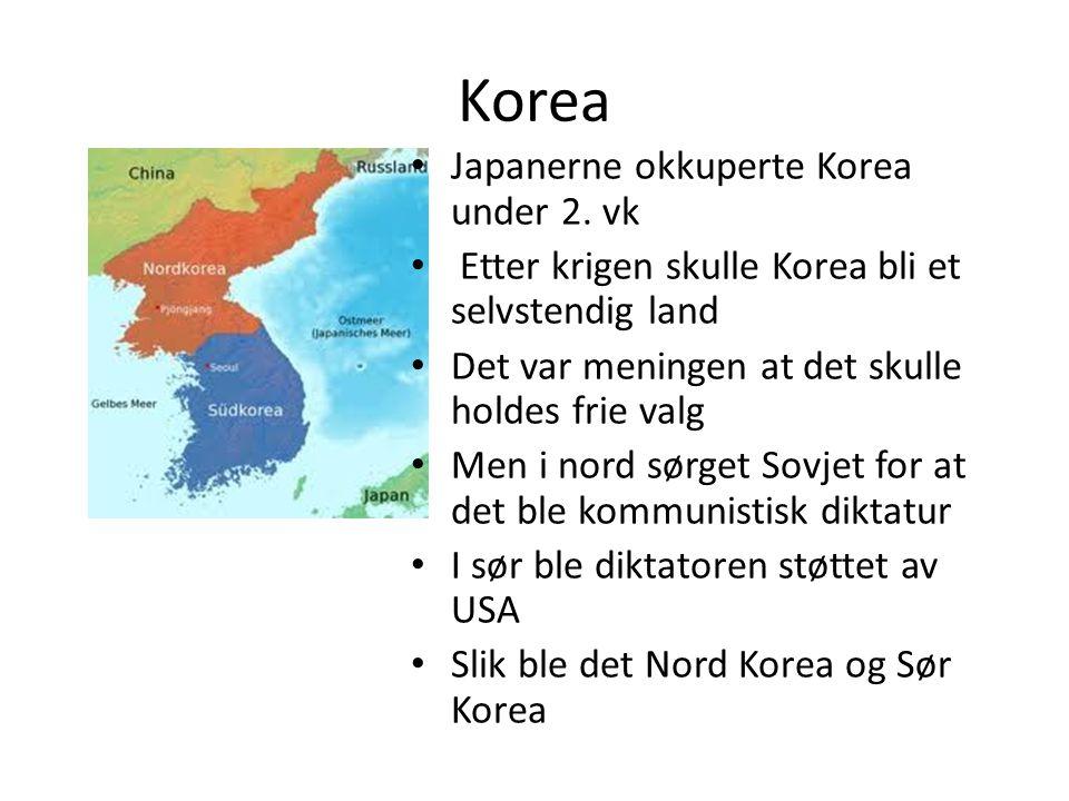 Korea Japanerne okkuperte Korea under 2. vk