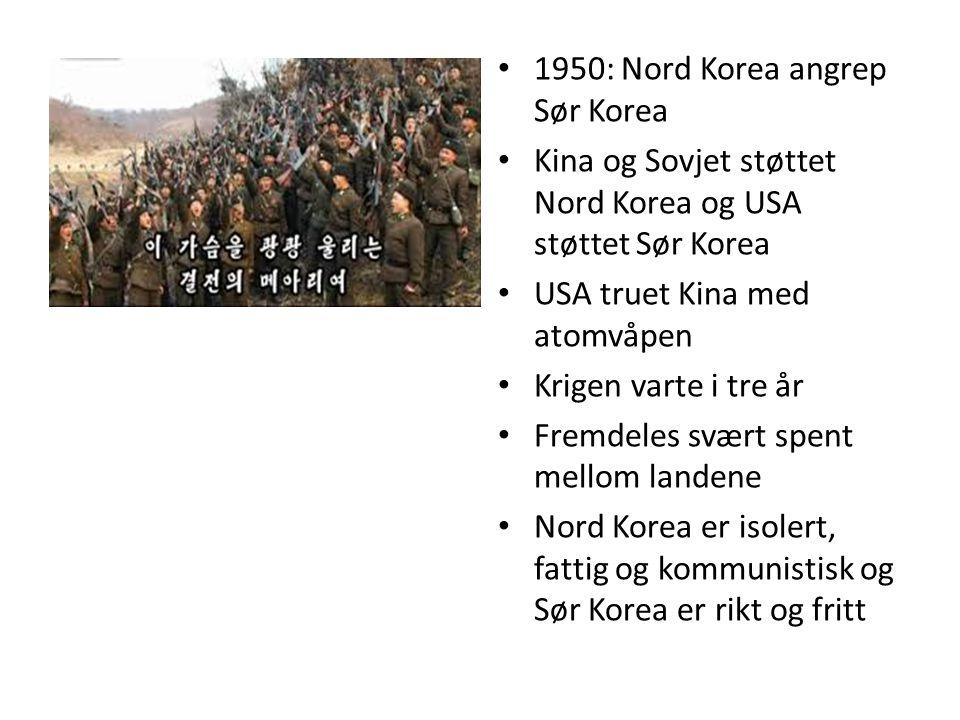 1950: Nord Korea angrep Sør Korea