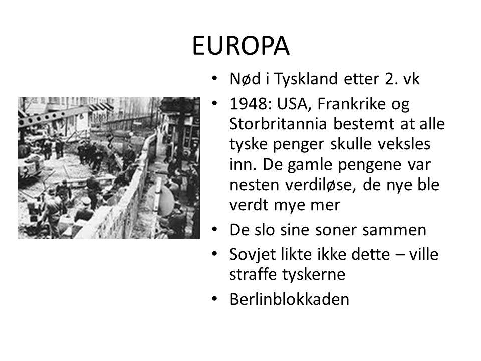 EUROPA Nød i Tyskland etter 2. vk