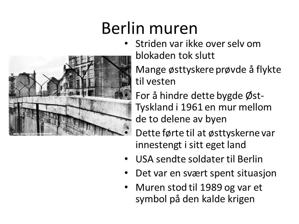Berlin muren Striden var ikke over selv om blokaden tok slutt