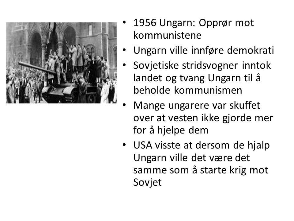 1956 Ungarn: Opprør mot kommunistene
