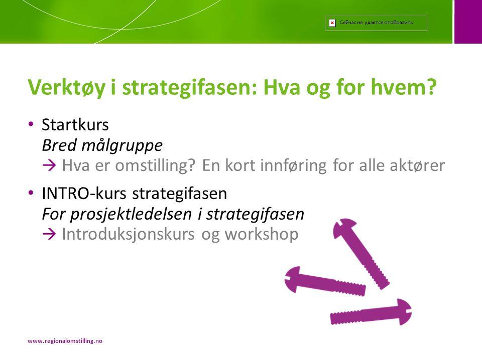 Verktøy i strategifasen: Hva og for hvem