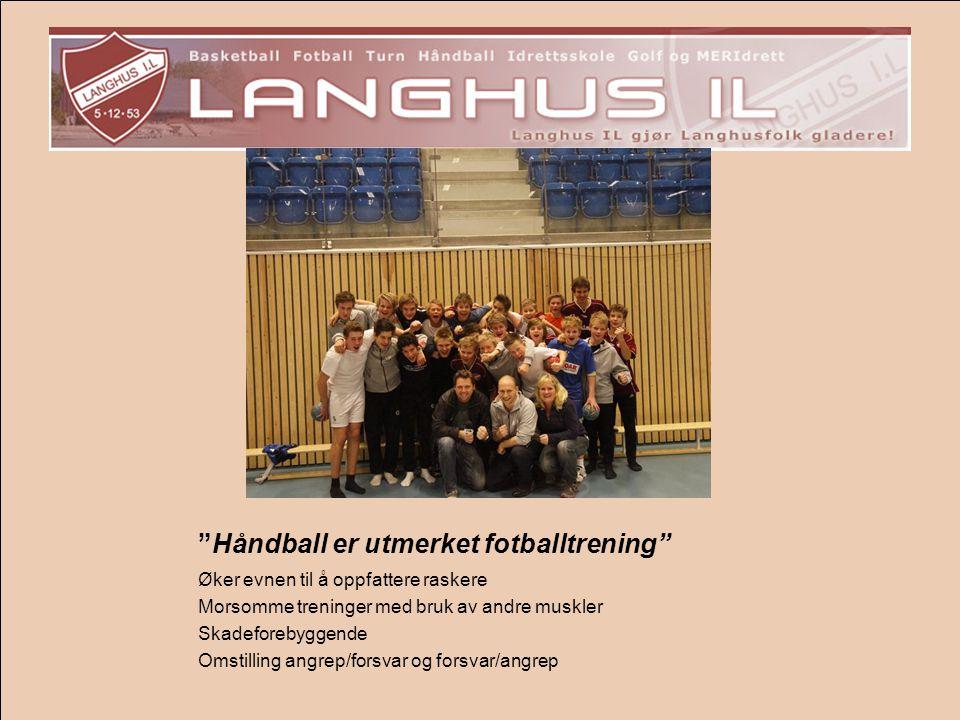 Håndball er utmerket fotballtrening