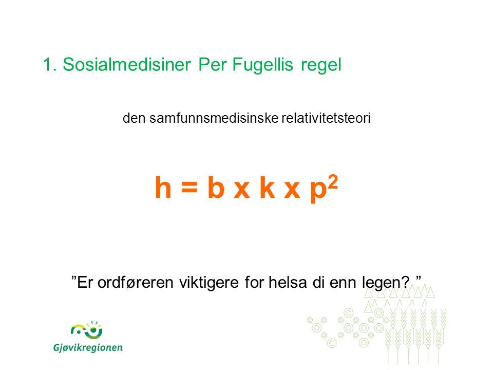 1. Sosialmedisiner Per Fugellis regel