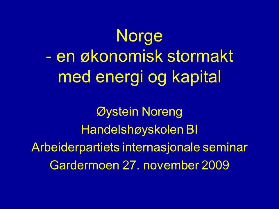 Norge - en økonomisk stormakt med energi og kapital