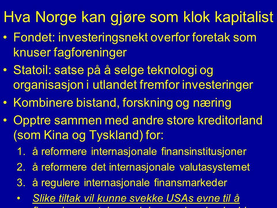Hva Norge kan gjøre som klok kapitalist