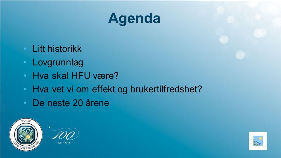 Agenda Litt historikk Lovgrunnlag Hva skal HFU være
