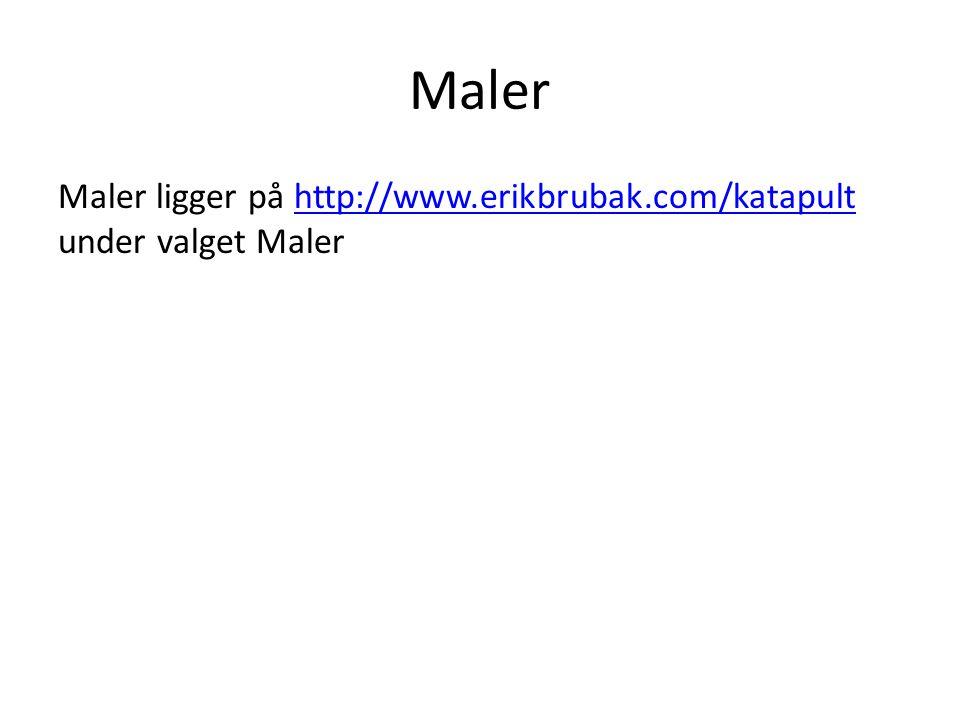 Maler Maler ligger på http://www.erikbrubak.com/katapult under valget Maler