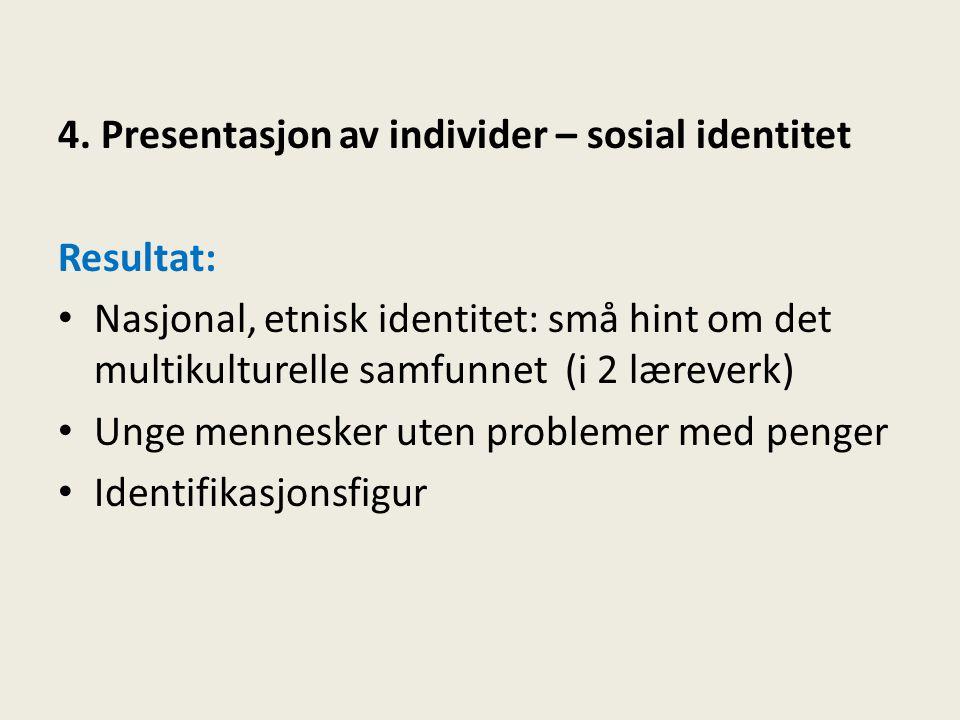 4. Presentasjon av individer – sosial identitet