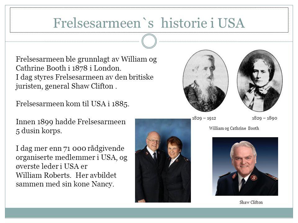 Frelsesarmeen`s historie i USA