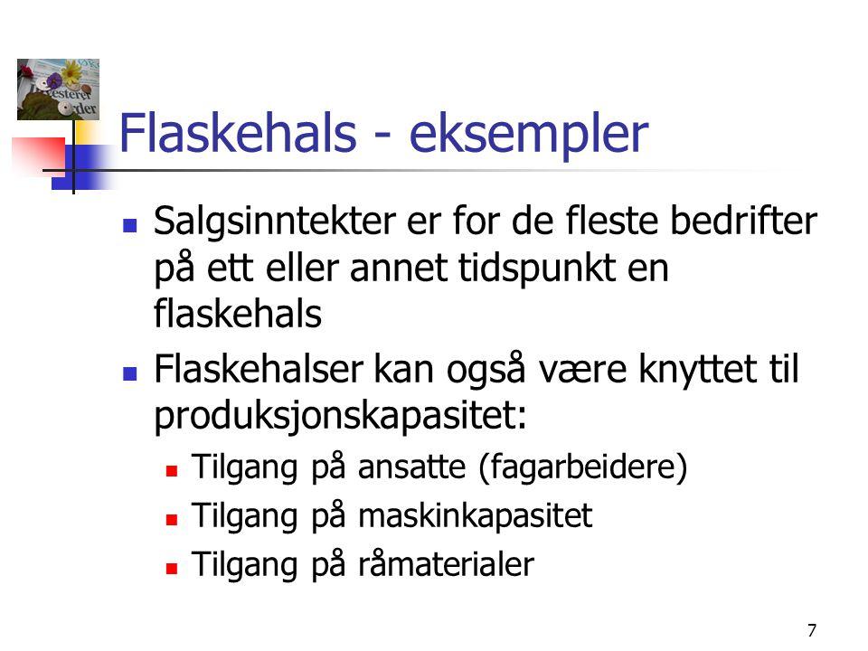 Flaskehals - eksempler