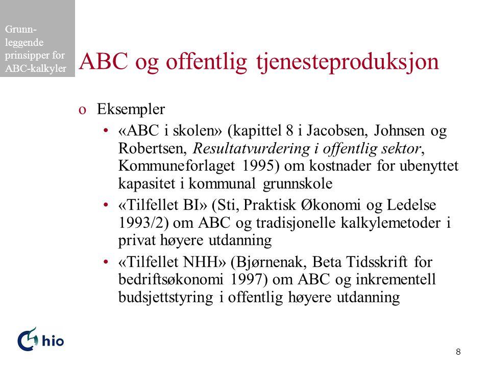 ABC og offentlig tjenesteproduksjon