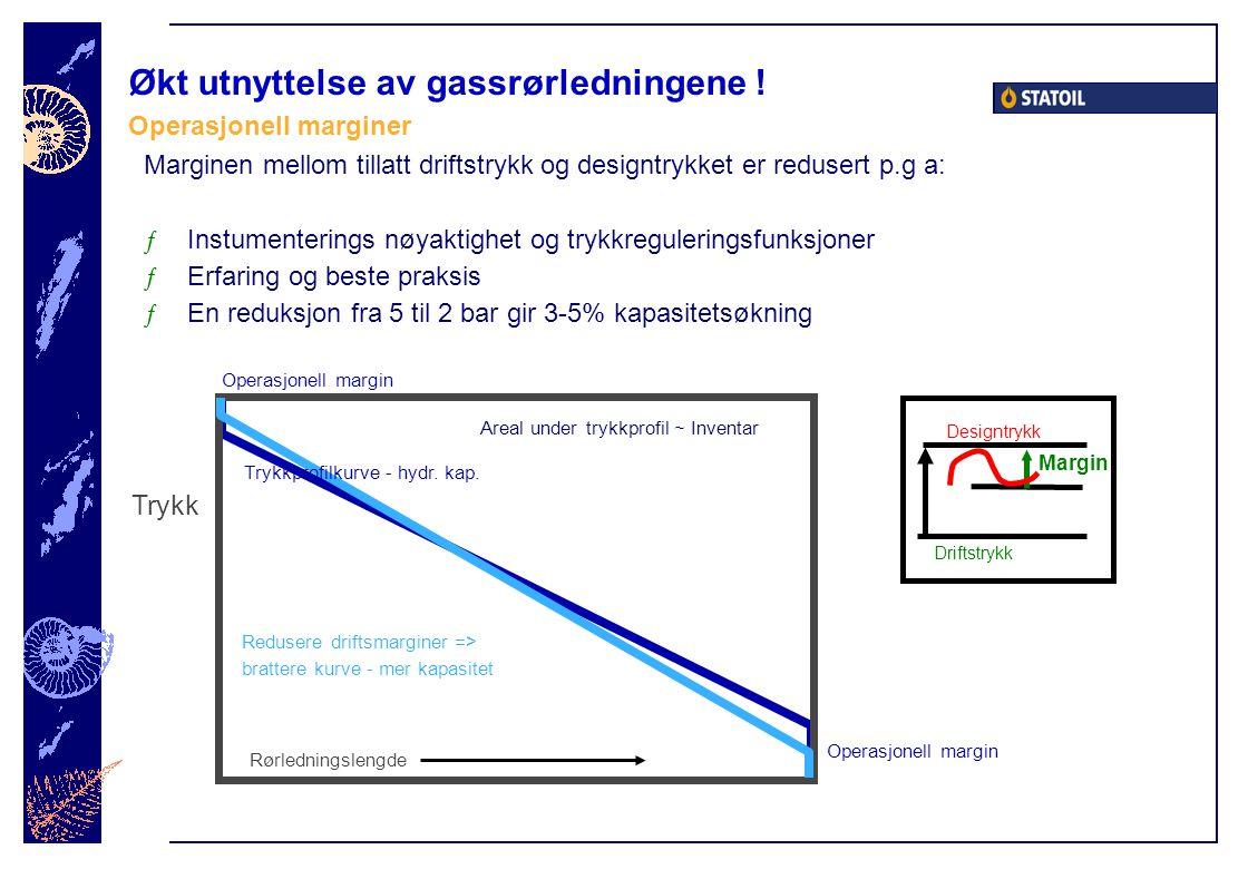 Økt utnyttelse av gassrørledningene !