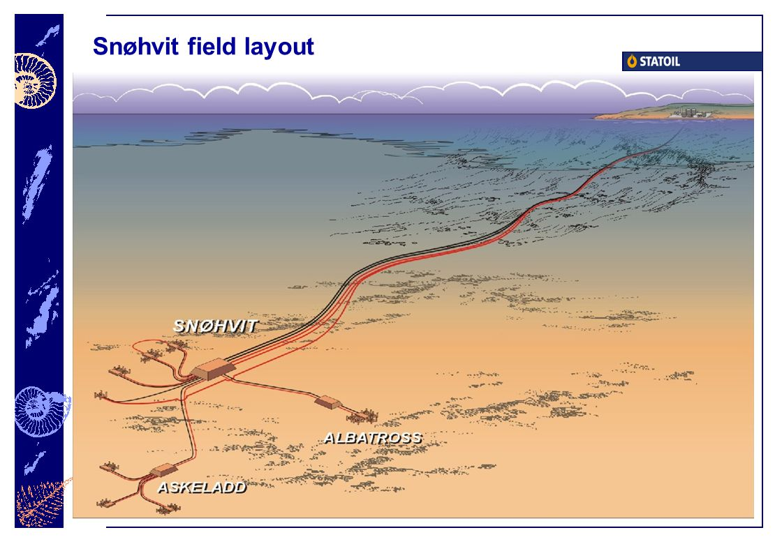 Snøhvit field layout