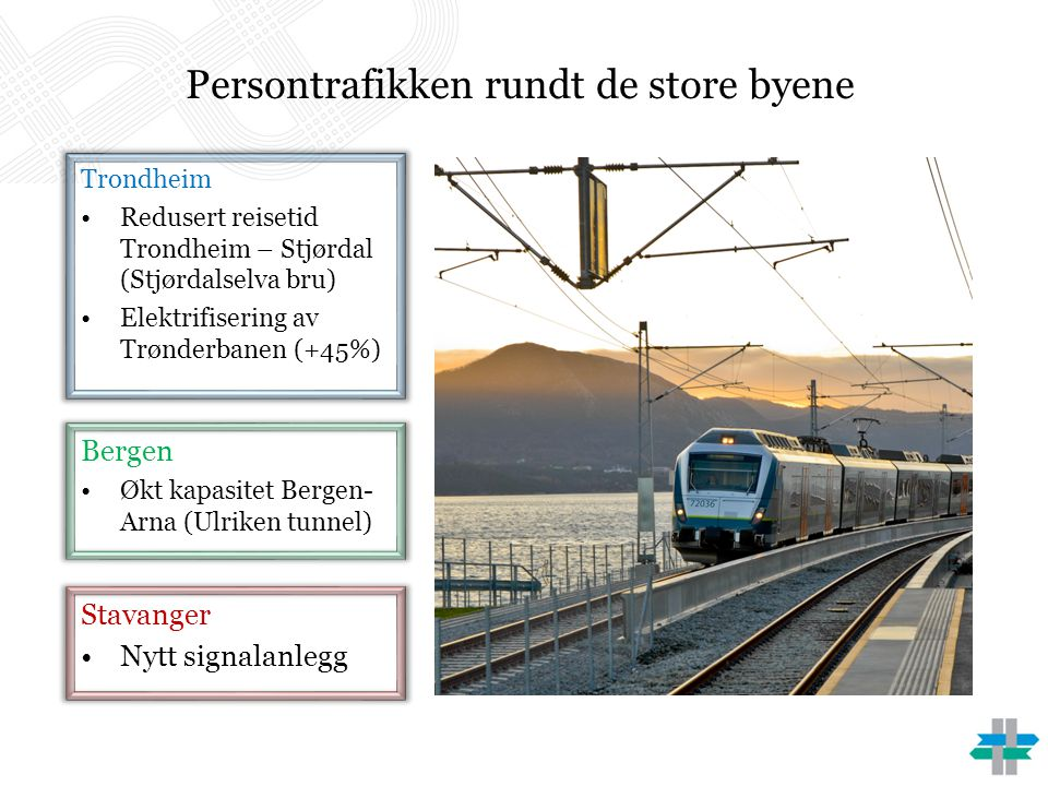 Persontrafikken rundt de store byene
