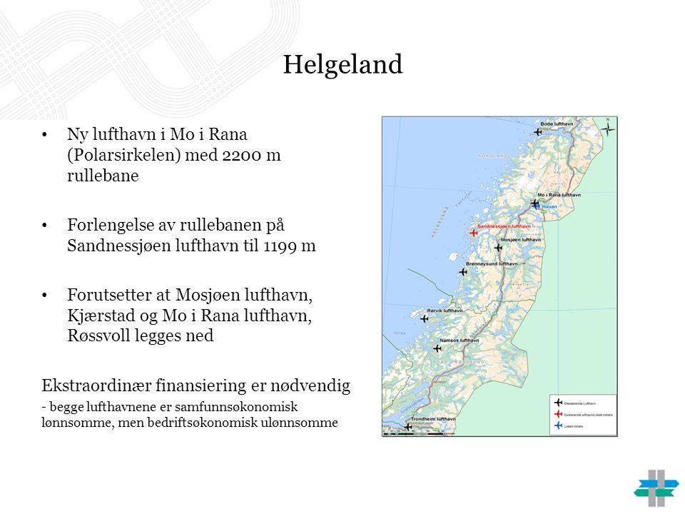 Helgeland Ny lufthavn i Mo i Rana (Polarsirkelen) med 2200 m rullebane