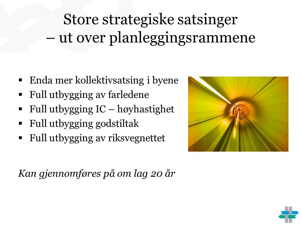Store strategiske satsinger – ut over planleggingsrammene