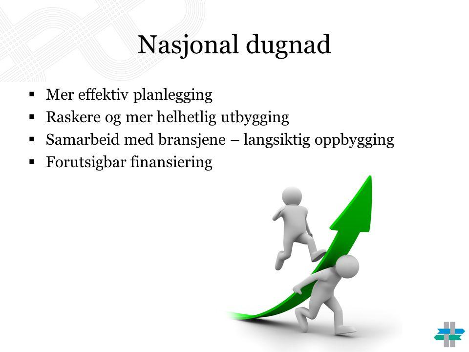 Nasjonal dugnad Mer effektiv planlegging