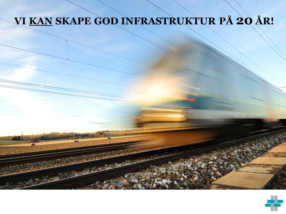 Vi kan skape god infrastruktur på 20 år!