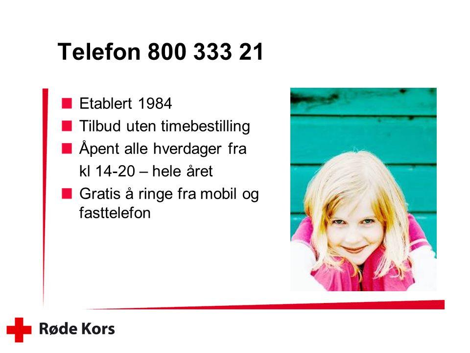 Telefon 800 333 21 Etablert 1984 Tilbud uten timebestilling