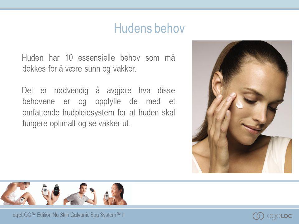 Hudens behov Huden har 10 essensielle behov som må dekkes for å være sunn og vakker.